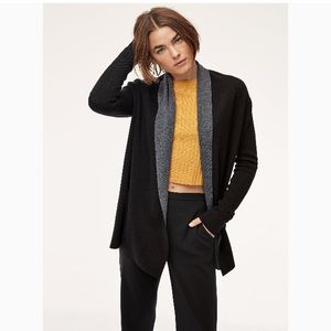NWT Aritzia Black Cashmere/Wool Blend  Cardigan